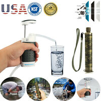 Portable Survival Military Water Filter Purifier Filtration Camping Emergency