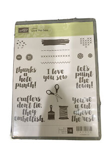 Stampin Up! Love You Sew Stamp Set *RETIRED*