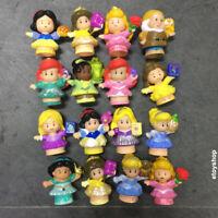 Random 5pcs Fisher Price Little People Disney Princess Mickey Minnie Mouse dolls