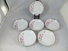 """Dawn Rose Towne Fine China Germany  Set of 6 Berry Bowls 5 1/4""""  EUC  NEED EXTRA"""