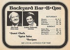 1977 MILWAUKEE WISCONSIN TV AD~LUANN SCHMALZ~SPICE KING JIM FORD~BACKYARD BBQ