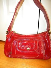 Perlina New York Red Patent Leather Shoulder Bag/Hand Bag ~ XLNT!