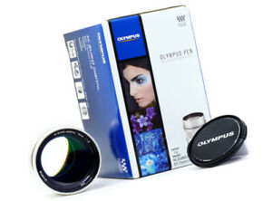 OLYMPUS 75MM 1.8 PRIME IN SILVER - MINTY BOXED EXAMPLE!