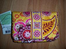 New Vera Bradley Bali Gold Compact Wallet Nwt