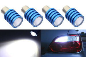 2 pairs 7.5W LED Chips White Replace Halogen Rear Tail Brake Light Bulb B2