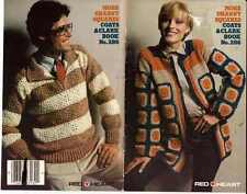 Crochet PATTERNS GRANNY Sweaters JACKET Mans PULLOVER Childs CARDIGAN