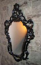Rétro Miroir mural ancien miroir noir 50X76 ovale shabby Miroir jeunes Encore