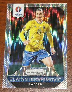 2016 Panini Euro Prizm Zlatan Ibrahimovic Flash Silver Sweden #241