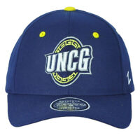 NCAA Zephyr UNC Greensboro Spartans Navy Adjustable Curved Bill Adults Hat Cap