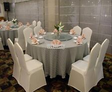 Spandex 100PCS White Folding Chair Covers Wedding Party Banquet Event Seat Cover