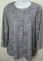 top blouse xl extra large womens blue floral print sheer long sleeves casual