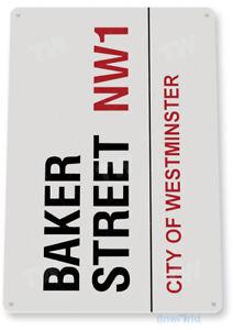 TIN SIGN Baker Street NW1 Westminster Décor Street Art Garage Store A847