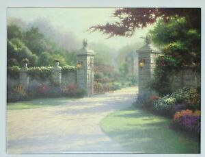 Thomas Kinkade Summer Gate 25.5 x 34 Studio Wrapped Canvas COA