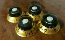 4 Guitar Set Screw Top Hat Volume/Tone knobs... Gold/Black/White...  JAT C.G.P