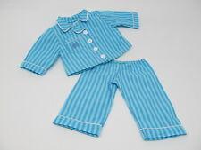 American Girl Bitty twins Boy blue & white striped Pajamas Pants & Shirt Retired