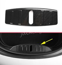 For Tesla Model 3 Carbon Fiber Texture Steel Front Trunk Sill Guard Protector