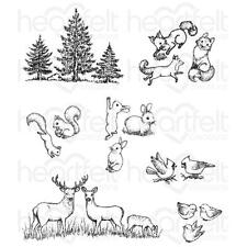 Heartfelt Creations Stamps ~ WOODSY CRITTERS ~ HCPC3768