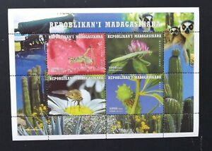 Madagascar- Insects-Flowers-1M/Sh. MNH**, Mad 25 /L