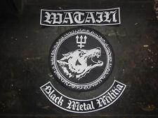 Watain Set 3 Parts Backpatch Patch Shape Black Metal Dissection Mgla Morbid Von