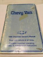 Chevy Van 1986 Chevrolet Owner's Manual
