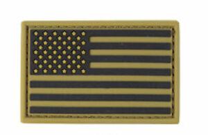 Condor PVC US American Flag Morale Patch - Tan - 221034-0003 Hook Back
