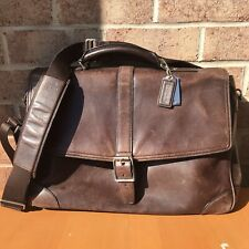 Handsome Coach Brown Leather Breifcase Laptop Bag