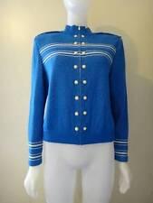 St. John Collection Women's Blue Santana Knit Zip Front Jacket Size 8