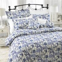 Paris Duvet Covers & Pillowcases Poly cotton printed blue black single double