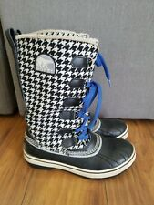 SOREL Tivoli Tall Houndstooth Boots WOMENS SZ 6 Shearling Waterproof