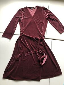 Apostrophe Women's Stretch Velvet Long Tie Wrap Dress XL 18-20 CHRISTMAS HOLIDAY