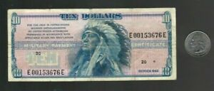 MPC Military Payment Certificate Series 692 $10 Dollar Note EF