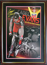 CADEL EVANS 2011 Tour DeFrance Champion LIMITED EDITION SIGNED FRAMED WITH COA