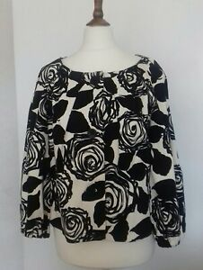 Womens Episode Black & White Floral Short Jacket Size 14