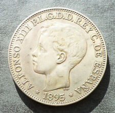 1895 Alfonso XIII. Puerto Rico PGV. 1 PESO. (Cal. 82). Buen ejemplar. Rara!
