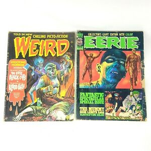 LOT of 2 vintage comic books EERIE & WEIRD
