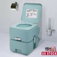 Portable Toilet 5 Gallon 20L Outdoor Indoor Travel Camping Toilet Potty Green