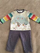 White company Catimini outfit Top and trousers size 9-12 months