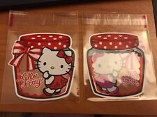 Lot of 10 Self Sealing Hello Kitty Storage Bags Clear Plastic Gift Cellophane
