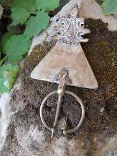 Fibule Berbère  ancienne - MAROC Argent massif 52 gr - TRIBAL