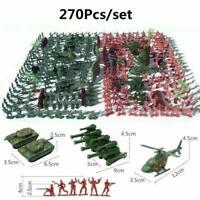 270pcs/Set Military Model Playset Toy 4cm Soldier Army Figures Action Men A8X3