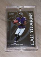 Lamar Jackson HOT BALTIMORE RAVENS 2020 PANINI PLAYOFF * CALL TO ARMS * INSERT
