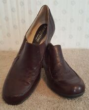 Naturalizer 7.5N Shoes Heels Clogs Slip On Leather Career Comfort Brown Cute A1