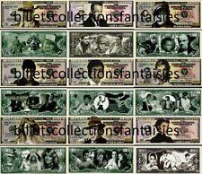 Lot de 9 Billets différents : Série LEGENDES # 2. Commémoration / Collection