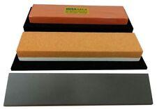 Messer-Schärf-Set / 4L / Kombistein Korund + MissArkaUltra + SiC Abziehleder