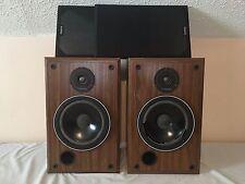 Infinity SM 80 Walnut Finish Vintage Main/Stereo Bookshelf Speakers -Need Refoam