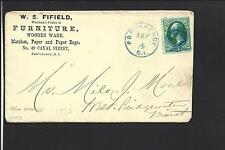 "PROVIDENCE, RHODE ISLAND COVER. ""W.S. FIFIELD"", FURNITURE & WOODEN WARE."