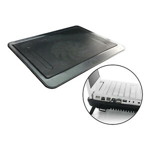 """Portable 14"""" Laptop Cooler Mat Quiet Cooling Pad Stand Tray Bracket Black"""