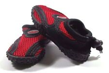 Water Shoes Size 5 Baby Toddler Boy Red Black Adjustable Loop Swim Easy USA