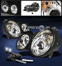 1998-2002 MERCEDES CLK W208 CCFL HALO PROJECTOR HEAD LIGHT+DRL LED SIGNAL+6K HID