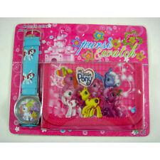 NEW My Little Pony Children's Wrist Watch Purse Wallet Set For Kids Boys Girls
